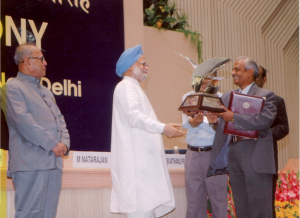 Titanium Trophy from Honorable PM on 11 May 2004