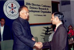 Scientist of the year Award by DRDO (7 Feb.1989.)
